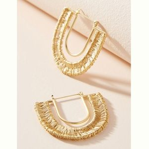 Anthropologie Wrapped U-Hoop Earrings